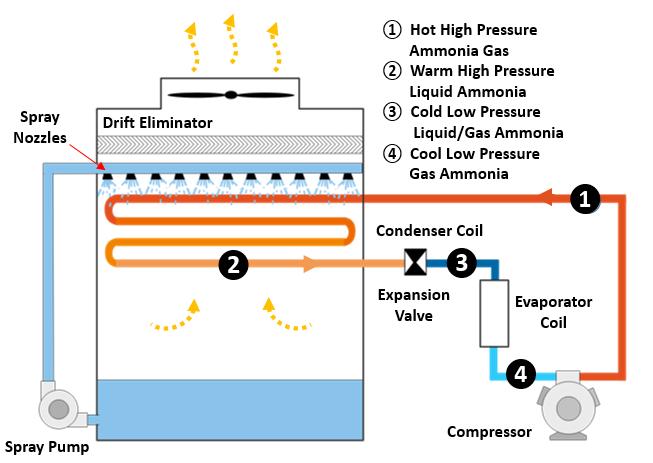 Evaporative Ammonia Condenser