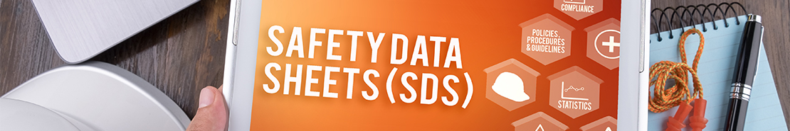 Safety Data Sheets Banner